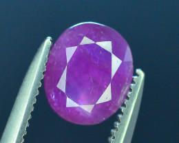 Untreated 1.25 ct Pink Corundum Kashmir Sapphire