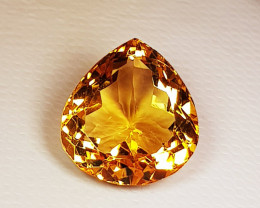 8.00 ct  Top Quality Gem  Stunning Pear Cut Top Luster Natural Citrin