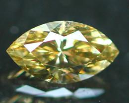 0.23Ct Natural Champagne Color Fancy Diamond E2706