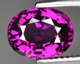 Rare 3.71 Cts Gorgeous Color Grape- Purple Garnet  ~ Mozambique PG6
