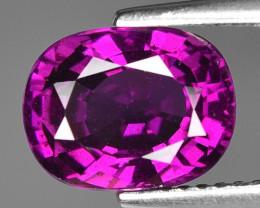 Rare 3.65 Cts Gorgeous Color Grape- Purple Garnet  ~ Mozambique PG9