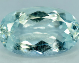 NR Auction 7.95 CT Natural Oval Cut Aquamarine Gemstone