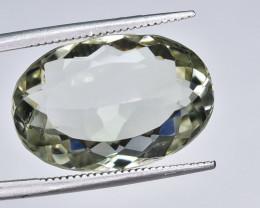 13.55 Crt Natural Prasiolite Green Amethyst Faceted Gemstone.( AB 05)