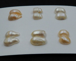 New Arrival Natural Shell Cabochon Pairs, Healing Stone E30