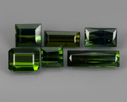 4.85 CTS OCTAGON CUT 100%NATURAL GREEN MOZAMBIQUE TOURMALINE GEM
