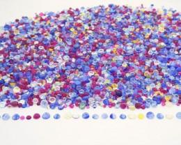 $1 NR Auction: 41.52ct Tutti Frutti Mix Ruby/Sapphire Round Cabochon Wholes