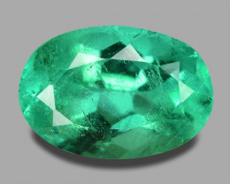 3.80 Ct GREEN COLOR COLOMBIAN NATURAL EMERALD LOOSE GEMSTONE