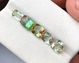 4.05 Ct Natural Bi Color Transparent Tourmaline Gemstones Parcels