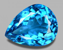 9.75 CTS FANCY SWISS BLUE COLOR TOPAZ NATURAL GEMSTONE