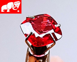 PIGEON'S BLOOD Red Namya GFCO (Switzerland) Unheated Spinel (Burma)