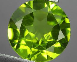 1.70 CTS LUXURY! RICH 8.07 MM ROUND CUT GREEN PERIDOT PAKISTAN~
