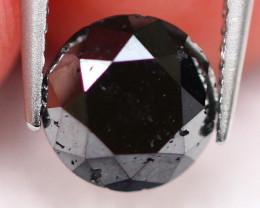 0.91Ct Natural Round Carbonado Black Diamond D2904