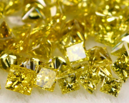 1.09Ct Natural Fancy Yellow Color Princess Diamond Lot  BM205