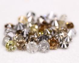 7.20Ct  Natural Salt Pepper Color Diamond Lot BM214