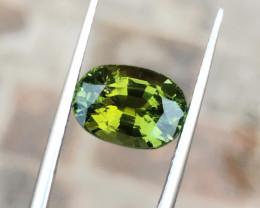 3.95 Ct Natural Greenish Yellow Transparent Tourmaline Gemstone