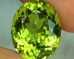 8.27 CT Rare Srilankan Yellow Green Flawless Sillimanite