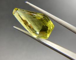 18.37 ct Lemon Quartz Loose Gemstone - Natural Gemstone - Fancy Cut