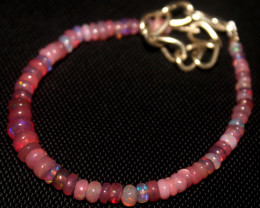 13 Crts Natural Welo Smoked Opal Beads Bracelet 918