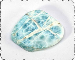 Charming Design Natural Sky Blue Larimar Slab 54x42x10mm 41grams