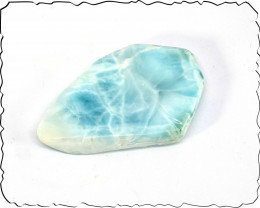 Lovely Natural Sky Blue Larimar Slab 46x28x7mm 80cts