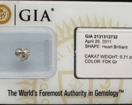 0.71ct Natural Fancy Dark Gray Diamond GIA certified