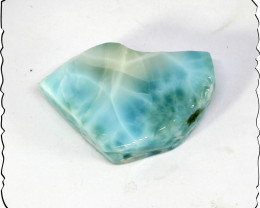Exquisite Natural Sky Blue Larimar Slab 36x25x9mm 80cts