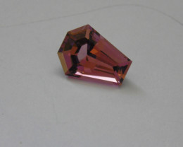 Tourmaline Strong Pink Color with interesting design of cut