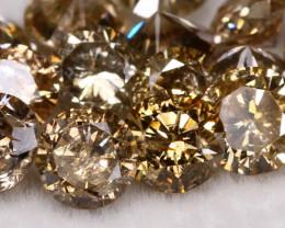 3.30 Ct Natural Fancy Champagne Color Diamond Lot BM215