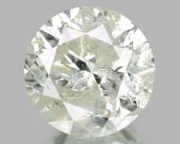 1.00 UNTREATED YELLOWISH WHITE NATURAL LOOSE DIAMOND
