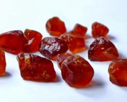 101.05 CT Natural - Unheated  Orange Red Garnet Rough Lot