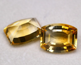 Citrine 16.84Ct Natural Gold Yellow  Color Citrine Pair BF2910