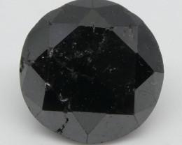 2.19ct Black Diamond Round