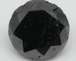 2.04ct Black Diamond Round