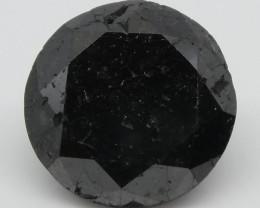 1.91ct Black Diamond Round