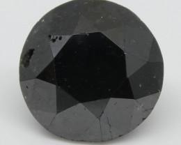 2.35ct Black Diamond Round