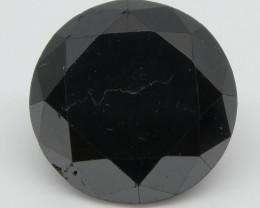 2.13ct Black Diamond Round
