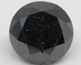 2.67ct Black Diamond Round