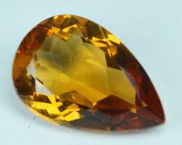 3.91 Cts Natural Golden Orange Citrine Pear Cut Brazil