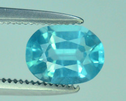 Great Luster 0.90 ct Apatite Mesmerizing Caribbean Color