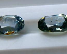 2.45 CT Natural - Unheated Blue Sapphire Gemstone Pair