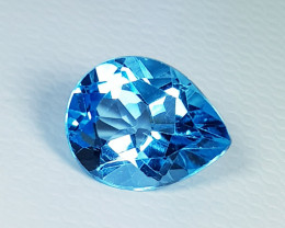 2.80 ct Top Quality Gem Stunning  Pear Cut Natural Super Swiss Topaz
