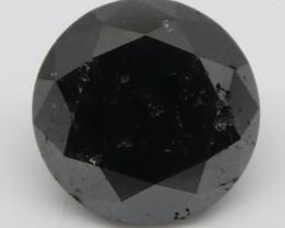 2.75ct Black Diamond Round