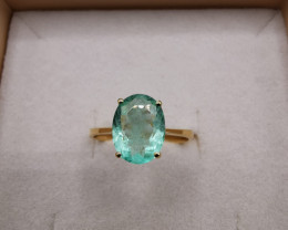 not available Colombian Emerald 18k Solid Gold Ring Emerald Colombian Emera