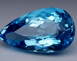 23 Crt Blue Topaz Natural Gemstones JI37