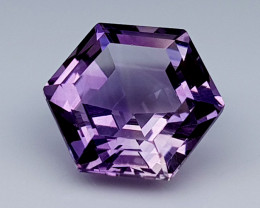 4.25 Crt Concave Amethyst Natural Gemstones JI37