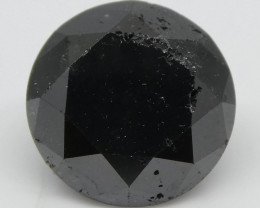 2.18ct Black Diamond Round