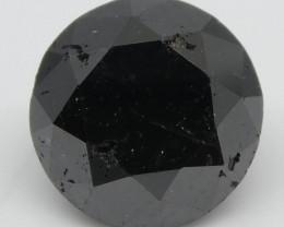 2.44ct Black Diamond Round