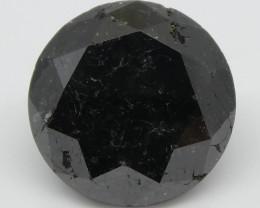 1.97ct Black Diamond Round