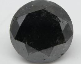 2.79ct Black Diamond Round