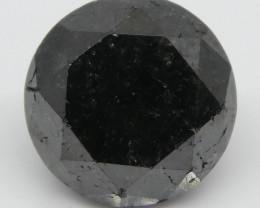 3.62ct Black Diamond Round